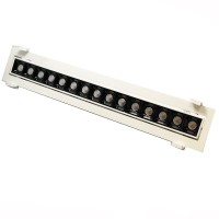 Laser Blade Recessed Linear Adjustable Downlight LED 30W 3000K Warm Light 2400 lm White/Black Color