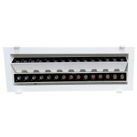 Laser Blade Recessed Double Linear Adjustable Downlight LED 60W 3000K Warm Light 4800 lm White/Black Color