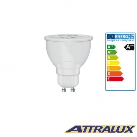 Attralux LED GU10 5.5W-65W 4000K 450lm 36° Cool White Lamp