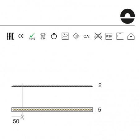 Iled Strip Striscia LED Ribbon Slim D3120 120led/m 24V 9.6W/mt Bobina 5 Metri 48W Flessibili Ottima Qualità