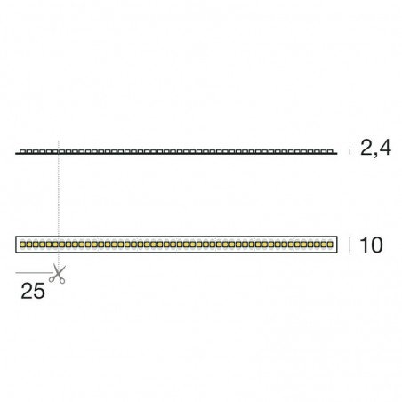 Iled Strip Striscia LED Ribbon 240led/m 24V 19.2W/mt Bobina 5 Metri 96W Flessibili Ottima Qualità