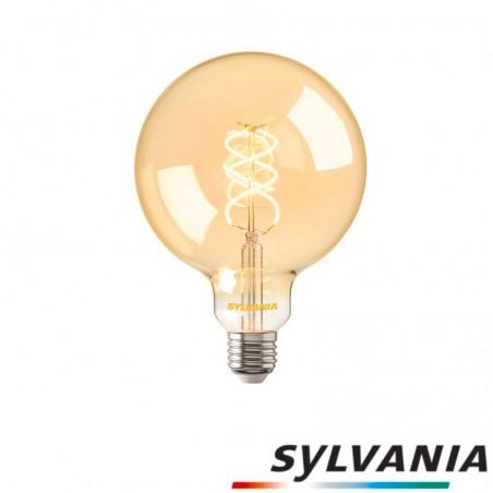 Sylvania ToLEDo LED Vintage Globe Bulb D.125 Spyral E27 5W 2000K 250lm Amber Dimmable