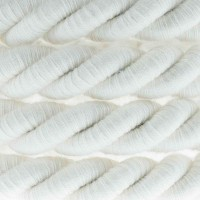 Electric Cable XL Natural Cotton Cord 3x Spiral Braided 300 / 300V Twisted
