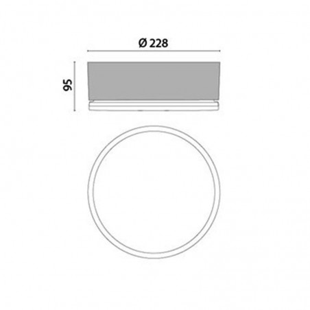 Prisma Drop 22 750° 1x13W Applique Plafoniera IP55 Parete o Soffito Lampada