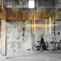 Flos COORDINATES S4 Dimmable Suspension LED Champagne Chandelier By Michael Anastassiades