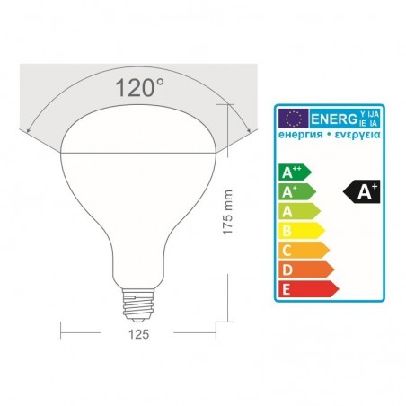Flos LED Lamp E27 R125 12W 230V 2700K 1000 lm Dimmable Frosted Bulb Parentesi