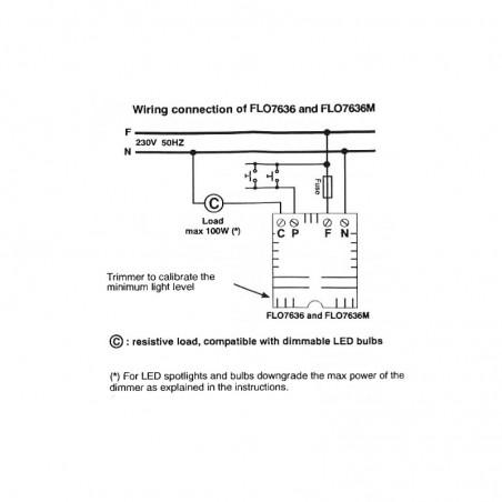 Flos Dimmer TRIAC per AIM e AIM Small con Rosone multiplo RF22227 flo7636m