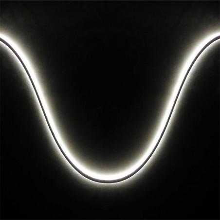 Lampo Neon Striscia LED In Silicone Slim 5mm 8W 12V Luce Continua IP64 Esterno 5 Metri Bobina