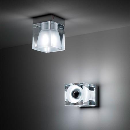 Fabbian Cubetto Lampada Soffitto D28E01 Plafone Cristallo GU10
