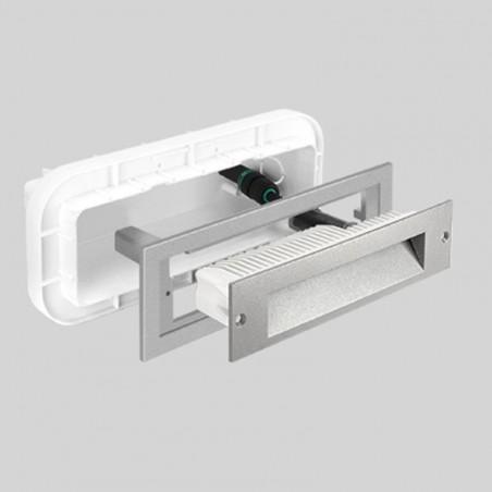 Prisma Insert +2 Lampada LED 10W Da Incasso Segnapasso A Parete Per Esterno Interno IP65