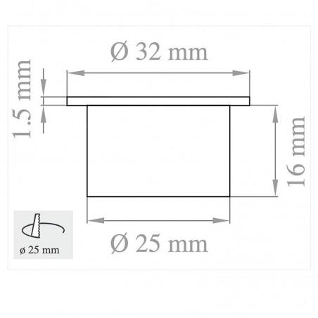 Lampo Spot Mini Downlight 1W LED Recessed 60° 350mA In Aluminum Alloy