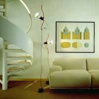 Flos Parentesi Dimmer Suspension Pendant Lamp Red F5600035 Achille Castiglioni
