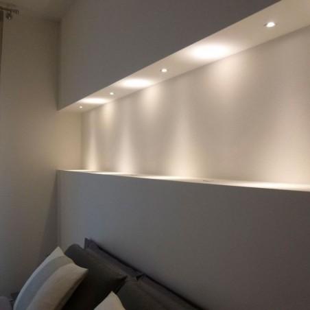 Lampo Spot Mini Faretto 1W LED da incasso 60° 350mA In Lega alluminio