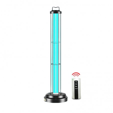 Sterilizing Germicide 120W UVC Double Tube Table Floor Lamp With Timer and Sensor