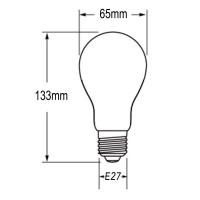 Flos Lampadina LED E27 21W 2452lm A65 220-240V 3000K Luce Calda Dimmerabile