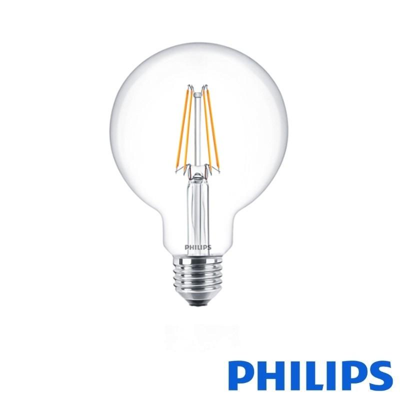 philips classic led globe e27 6w 60w 2700k 806 lm globe 95 bulb diffusione luce srl. Black Bedroom Furniture Sets. Home Design Ideas