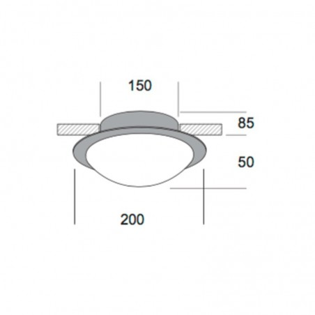 Kreadesign Astra Mini 200 Chrome Ceiling or Wall Lamp 20030