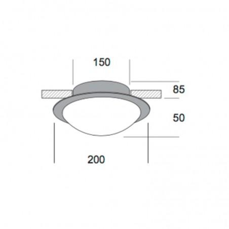 Kreadesign Astra Mini 200 Blown Nickel Ceiling Lamp 20036