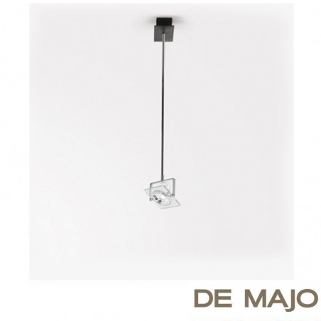 De Majo San Siro S75 Glass Adjustable Suspension Ceiling Lamp With Arm