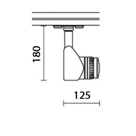 IVela 712-020-31 Faretto Spot Proiettore Soffitto E27 230V MAX 100W Bianco
