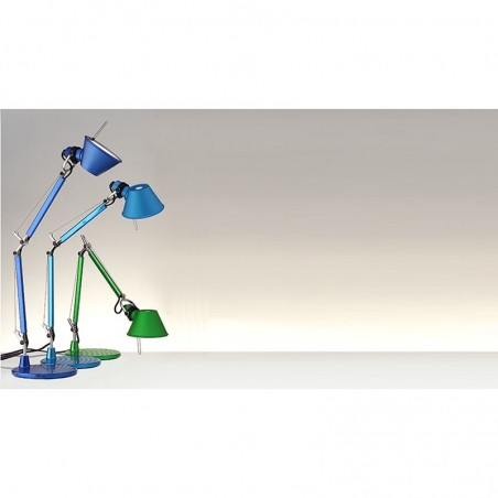 Artemide Tolomeo Micro Table Lamp Metal Turquoise A011870