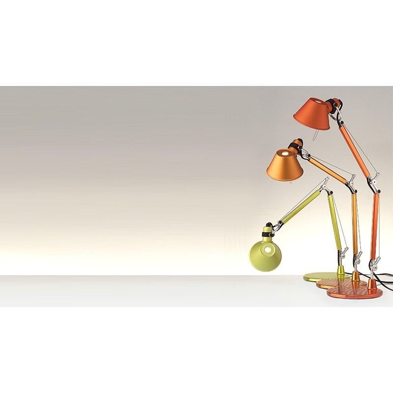 Artemide tolomeo micro lampada da tavolo bronzo a011890 diffusione luce srl - Artemide tolomeo micro tavolo ...