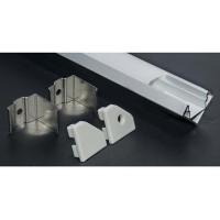 Lampo Kit Profilo Angolare Da Appoggio A Superficie In Alluminio 2 Metri Per Strip Led