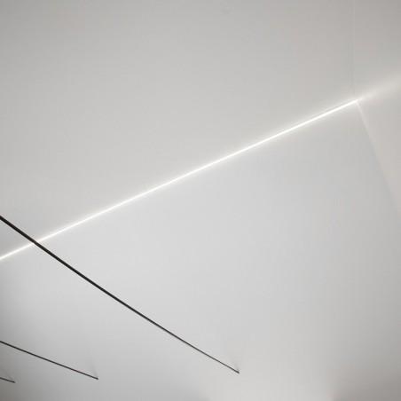 Lampo Kit Profilo In Alluminio Taglio Di Luce Per Spigoli 2 Metri Per Controsoffitto A Scomparsa