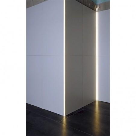 Lampo Kit Profilo In Alluminio Taglio Di Luce Per Angoli Esterni 2 Metri Per Controsoffitto A Scomparsa