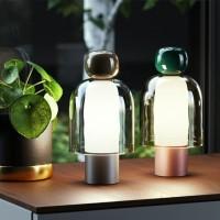 Slamp Easy Peasy LED Lampada Da Tavolo Dimmerabile A Batteria Portatile Ricaricabile Presa USB By Luca Nichetto