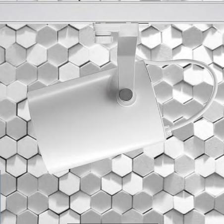 Ideallux Beba LED 25W 3000K 4100lm Proiettore da Binario Bianco Alta Luminosità