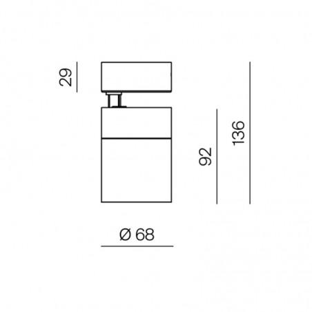 Logica Fulgor Proiettore Da Binario LED 24W 2300lm 38° Orientabile Trifase Per Interno