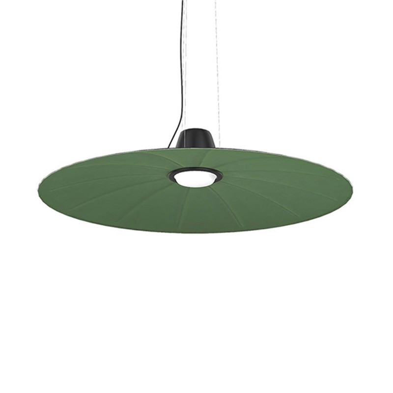 Martinelli Luce Lent Dimmable Suspension Lamp With Diffused Sound Absorbing Light By Yonoh Studio Creative