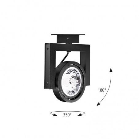 Logica Orbit LED GU10 Proiettore Da Binario Orientabile Per Interno