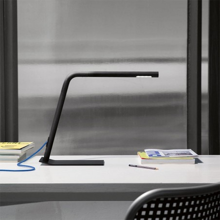 Martinelli Luce Elica Table Lamp LED Adjustable in Aluminum By Brian Sironi