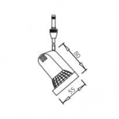 IVela Spot 12V GU5.3 50W Proiettore da Binario a Bassa Tensione Faretto