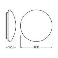 Osram LEDVANCE Surface Circular LED Lampada Soffitto-Parete 24W 3000K 1920 lm