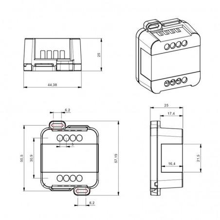 DIGIMAX Dimmer Driver Dimmable DALI 12V-48V 8A Easy Bus for LED strip