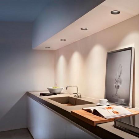 Flos Kap 80 LED 9.2W Wall Washer Tondo Faretto Incasso Soffitto Luce calda 3000K
