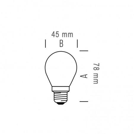 New Lamps Lampadina E27 24V Bassa Tensione Mini Globo LED 4W 440lm Diffusore PVC Trasparente Infrangibile