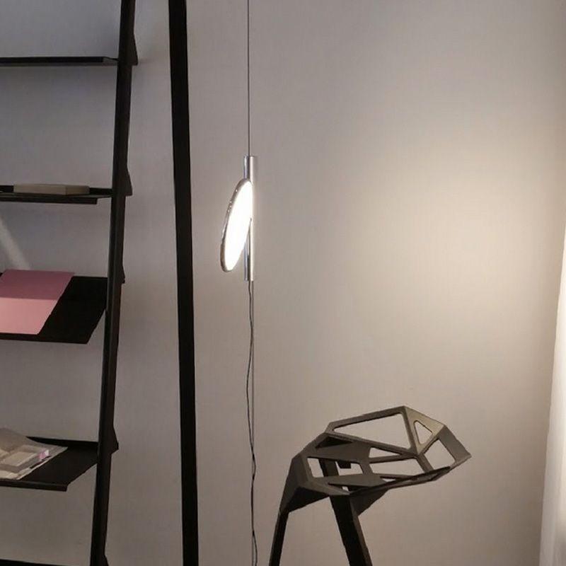 Flos ok lampada a sospensione cromo f4640057 diffusione for Lampada flos sospensione