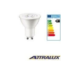 Attralux LED GU10 3W-35W 2700K 230lm 36° Warm Light Bulb