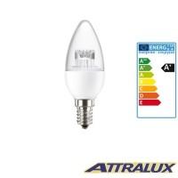 Attralux LED E14 3.2W-25W 2700K 250lm Luce Calda Lampadina