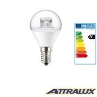 Attralux LED E14 3.2W-25W 2700K 250lm Lustre Luce Calda Lampadina