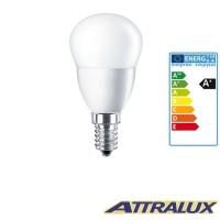 Attralux LED E14 5.5W-40W 2700K 470lm Luce Calda Lampadina