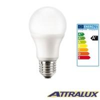 Attralux LED E27 8W-60W 2700K 810lm Luce Calda Lampadina