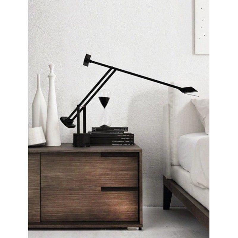 Artemide tizio halo alogena lampada da tavolo nero a009010 diffusione luce srl - Lampada tavolo artemide ...