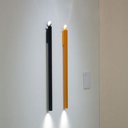 Flos Flauta Spiga 1 H225 Lampada LED Bi-Emissione da Parete Dimmerabile DALI per Interno