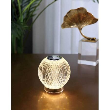 Illuminati Lighting Diamante Lumetto a 1 Luce Lampada da Tavolo a Batteria Ricaricabile