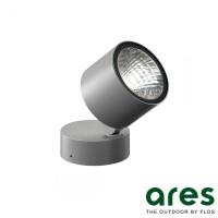 Ares Kirk 70 LED 4.5W 3000K Lampada Parete Soffitto Pavimento Esterno IP65 Grigio